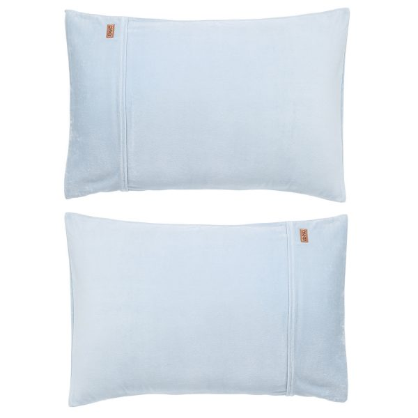 Kip&Co Baby Blue Velvet Pillowcase 2 Piece Set