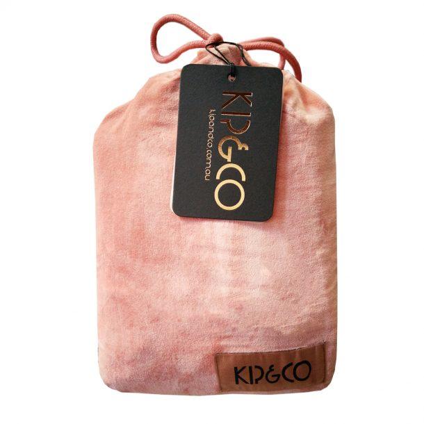Kip&Co Smokey Pink Velvet Pillowcase 2 Piece Set