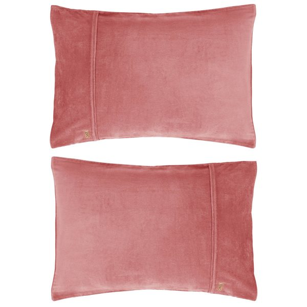 Kip&Co Smokey Pink Velvet Pillowcase 2 Piece Set