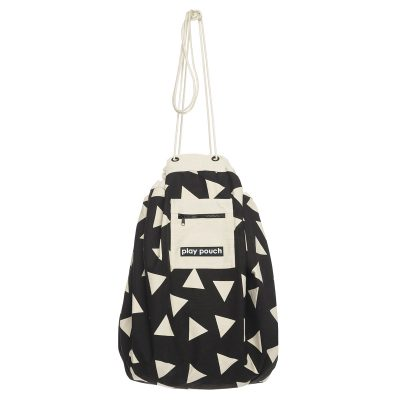 Triangle Pattern Play Pouch hanging