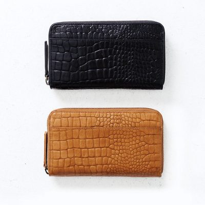 Status Anxiety Black Croc Delilah Wallet + Status Anxiety Tan Croc Delilah Wallet