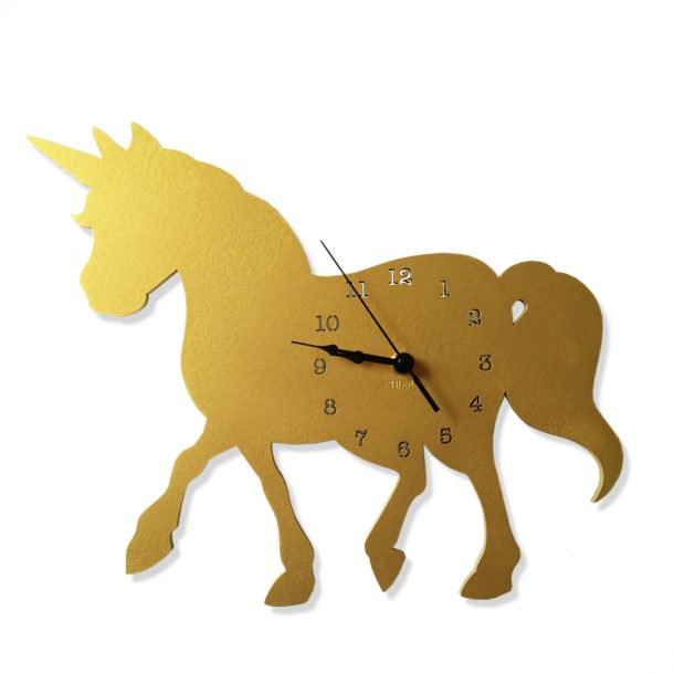 NEST Gold Unicorn Wall Clock