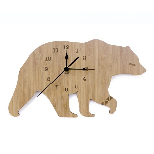 NEST Bamboo Bear Clock