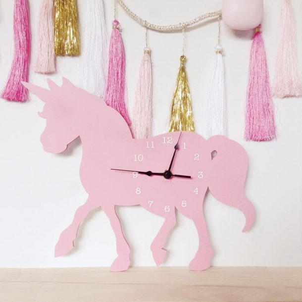 NEST Pink Unicorn Wall Clock