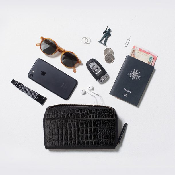 STATUS ANXIETY Status Anxiety Black Croc Delilah Wallet