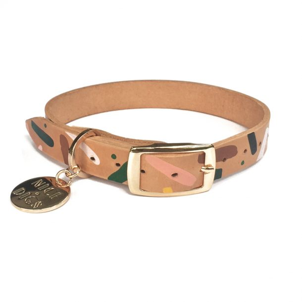 Master Confetti Leather Dog Collar