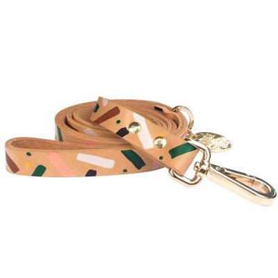 Master Confetti Leather Dog Leash