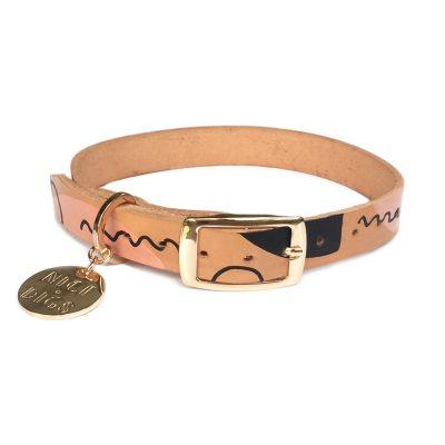 Modern Form Leather Dog Collar