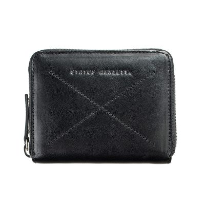 front of the Status Anxiety Black Darius Wallet