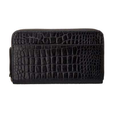 Status Anxiety Black Croc Delilah Wallet front