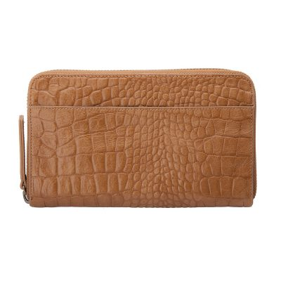 Status Anxiety Tan Croc Delilah Wallet
