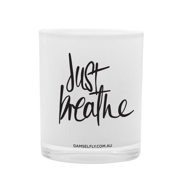 Just Breathe Damselfly Candle front