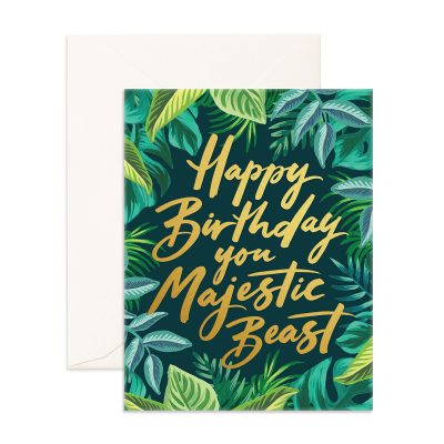 Happy Birthday You Majestic Beast Greeting Card