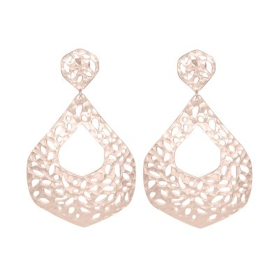 Nicole Fendel // Rose Gold Ava Statement Earrings