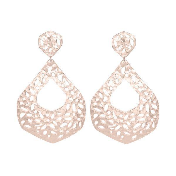 Nicole Fendel Rose Gold Ava Statement Earrings