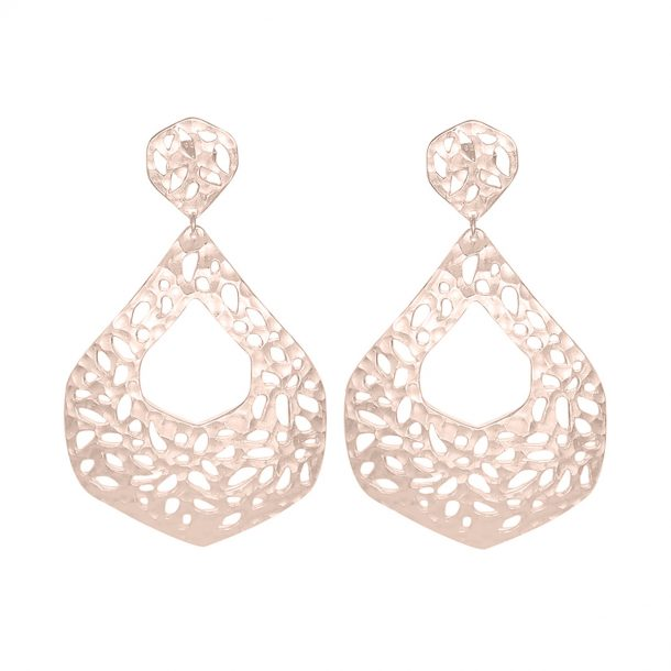Nicole Fendel Rose Gold Ava Statement Earrings