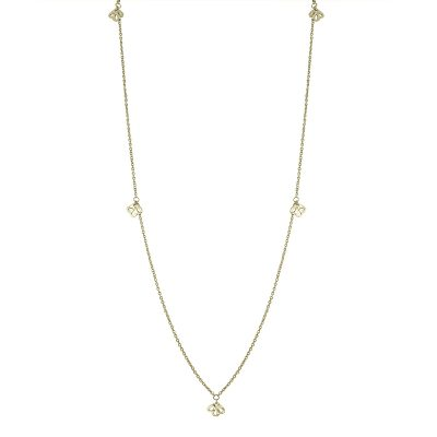 Nicole Fendel Soft Gold Imogen Long Necklace