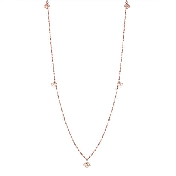 Nicole Fendel Rose Gold Imogen Long Necklace