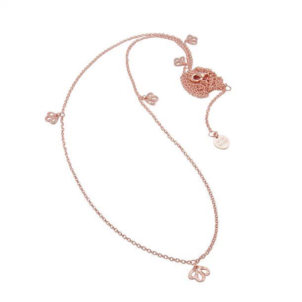 Nicole Fendel Rose Gold Imogen Long Necklace