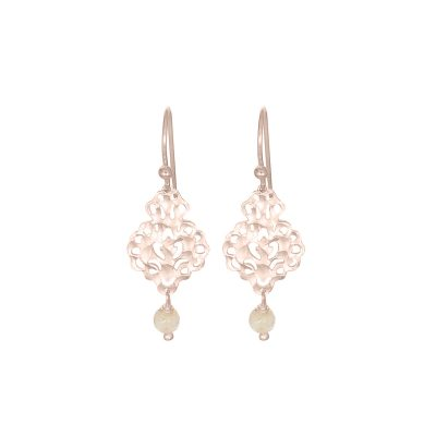 NICOLE FENDEL // Rose Gold Rosabel Gemstone Beaded Earrings