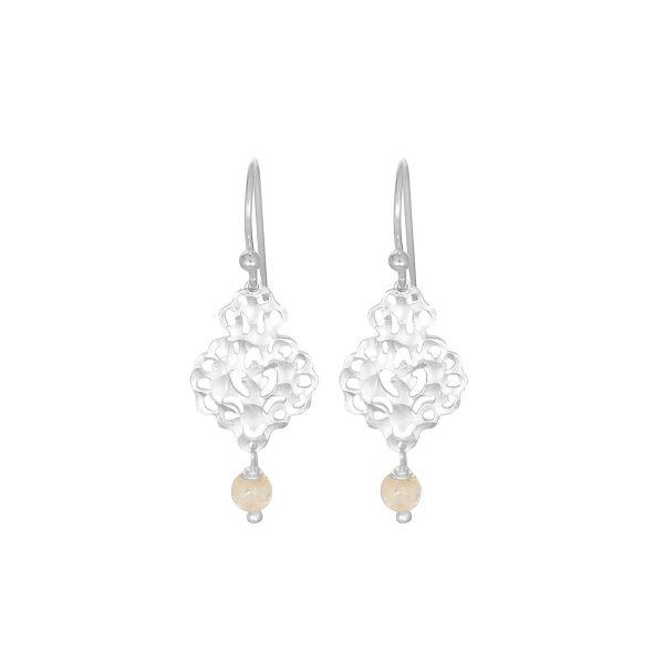 Silver Rosabel Gemstone Beaded Earrings