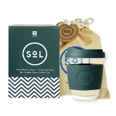 SOL PRODUCTS // ©LUXAH Dark Green SoL Cup + Protective Pouch