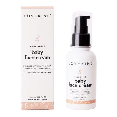 LOVEKINS Baby Face Cream with packaging