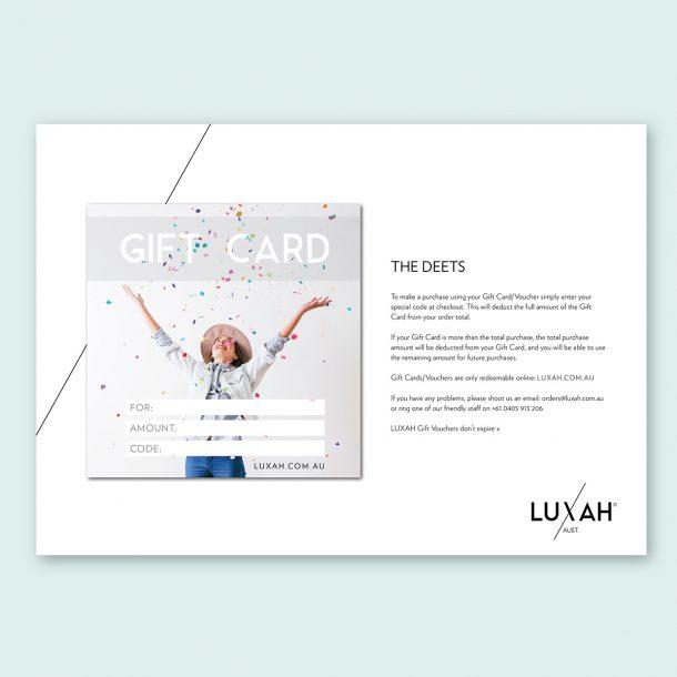 LUXAH Gift Voucher CONFETTI