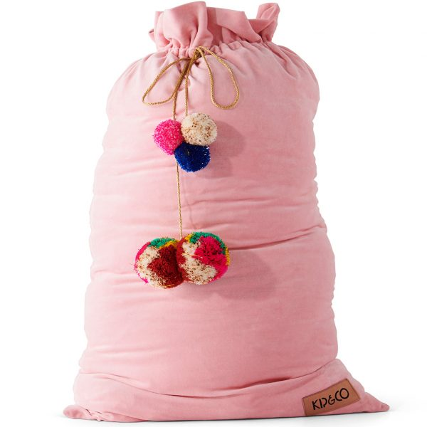 Kip and Co Velvet Santa Sack Pink
