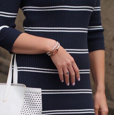 LADY FOX // White Lady Fox Infinity Bracelet