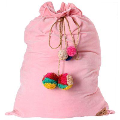 Kip&Co Blush Pink Velvet Santa Sack