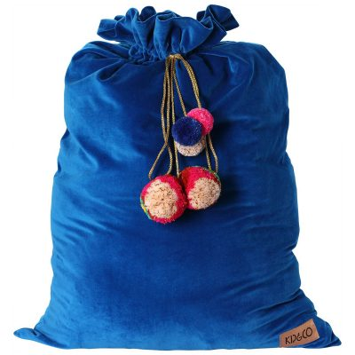 Kip&Co Royal Blue Velvet Santa Sack