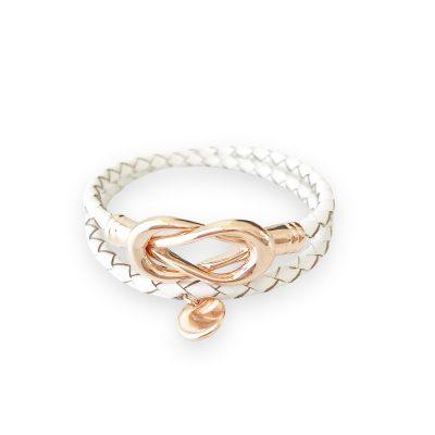 White Lady Fox Infinity Bracelet