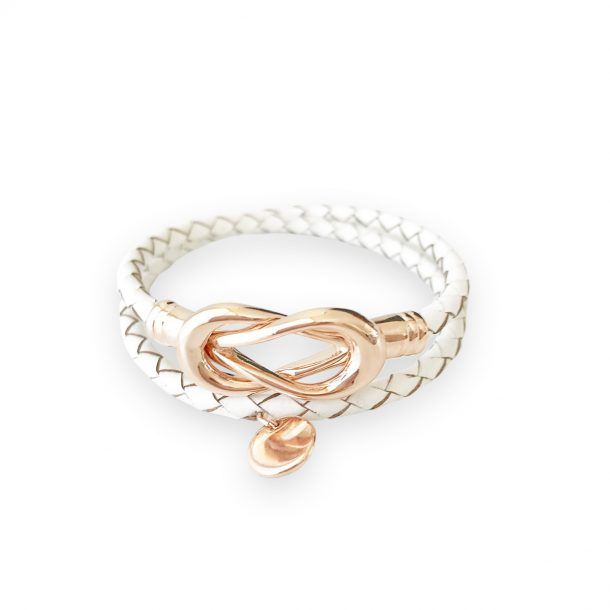 White Lady Fox Infinity Bracelet
