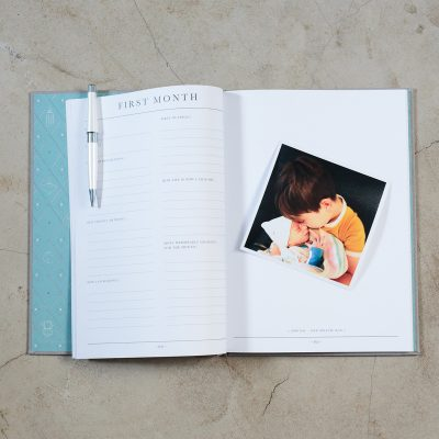 Birth to Five Years Grey Baby Journal