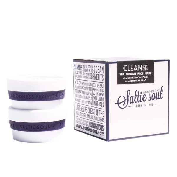 SALTIE SOUL Activated Charcoal Australian Clay Face mask