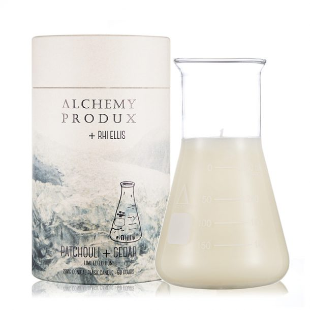 ALCHEMY PRODUX Patchouli & Cedar Conical Flask Candle