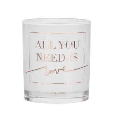 All You Need Is Love Damselfly Candle