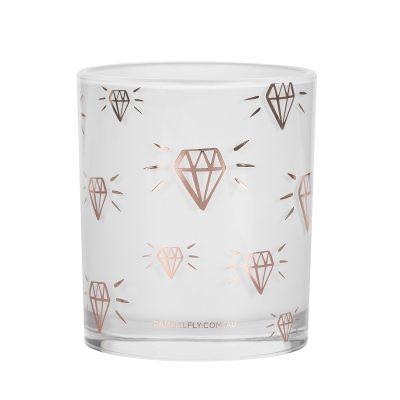 DAMSELFLY // Rose Gold Diamond Print. Damselfly Candle