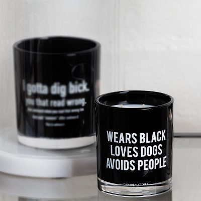 DAMSELFLY // Wears Black, Avoids People. Damselfly Candle