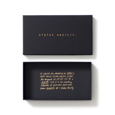 STATUS ANXIETY // Wallet Packaging