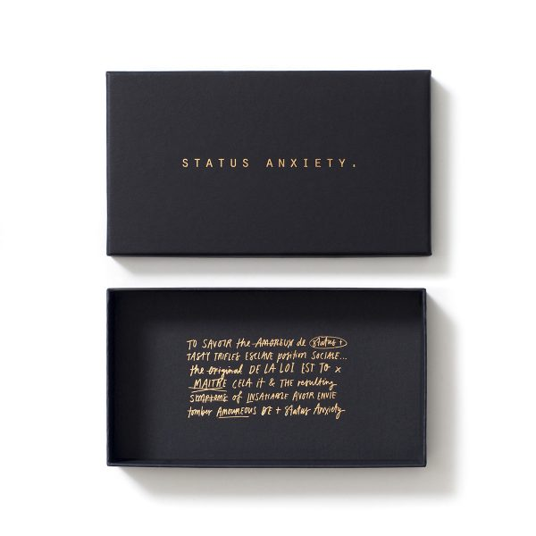 STATUS ANXIETY Wallet Packaging