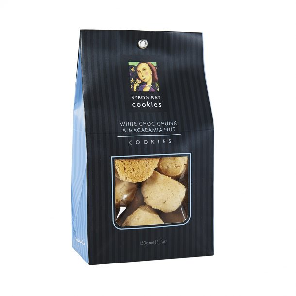 BYRON BAY COOKIE CO. White Choc Chunk and Macadamia Nut Cookies Gift Bag