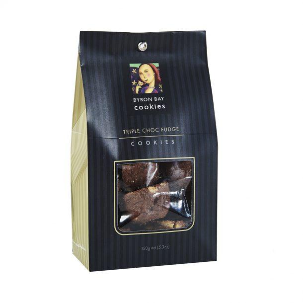 BYRON BAY COOKIE CO. Triple Choc Fudge Cookies Gift Bag