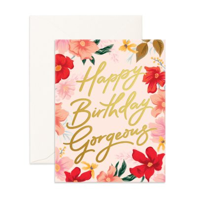FOX & FALLOW // Happy Birthday Gorgeous Greeting Card