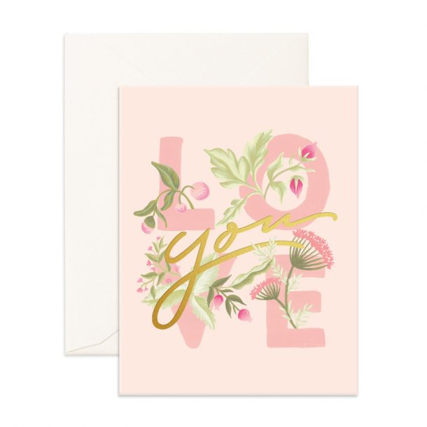 FOX & FALLOW Love You Greeting Card