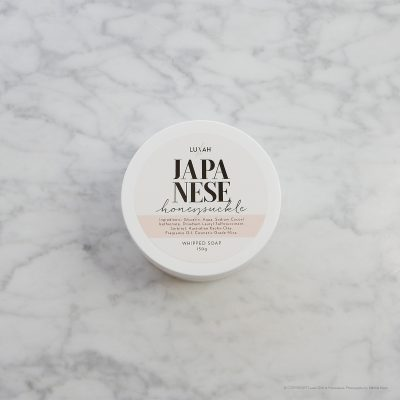 LUXAH // Japanese Honeysuckle Whipped Soap