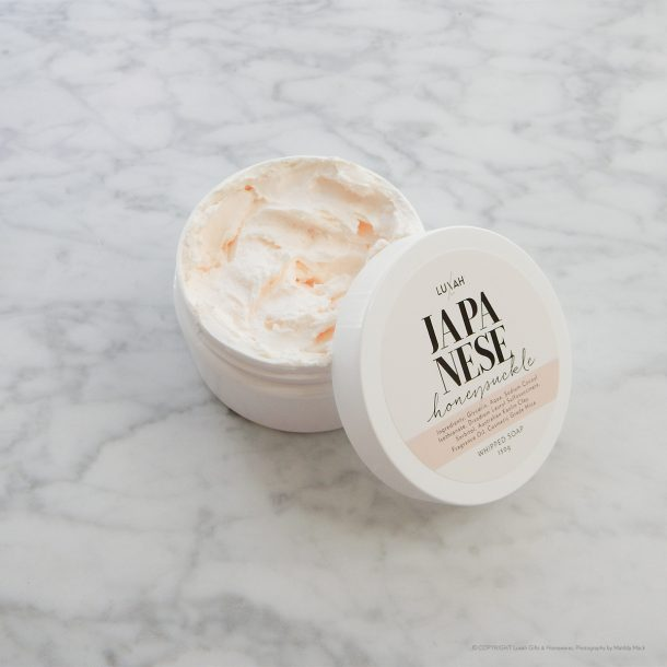 LUXAH Japanese Honeysuckle Whipped Soap