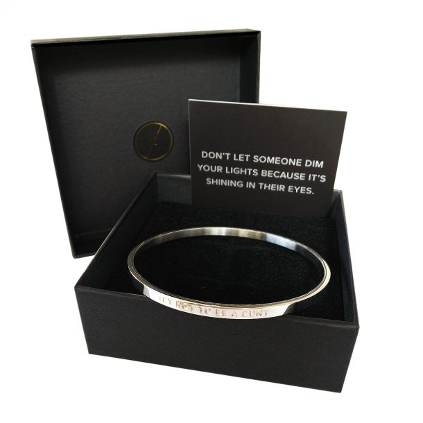 LUXAH BE.Bangle black Gift Box