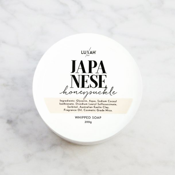 Japanese Honeysuckle Whipped Soap / NEW CONDENSED